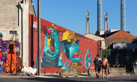 'I see Bordeaux changing and not for the better' … street art in Bordeaux.