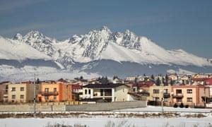 Mount pleaseant … Poprad, Slovakia, with the High Tatras behind.