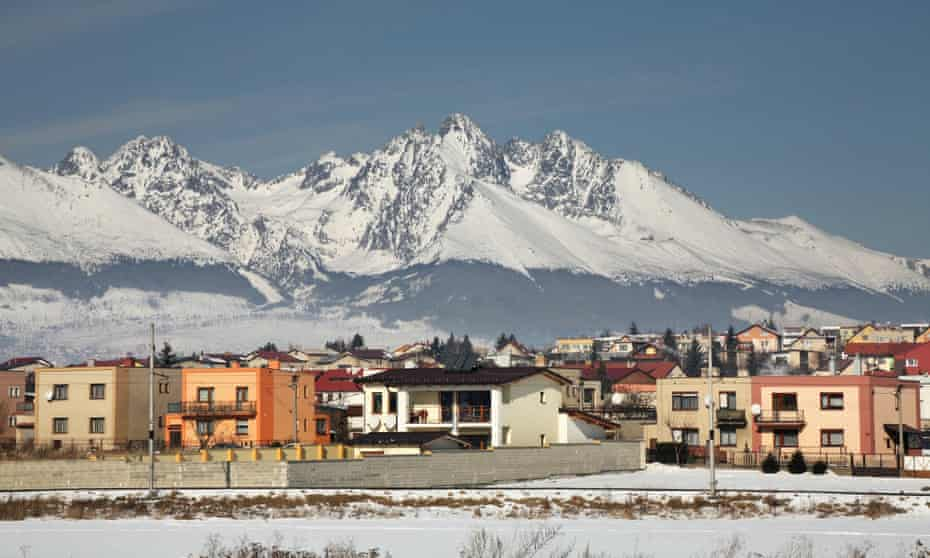 Mount pleaseant … Poprad, Slovakia, with the High Tatras behind.