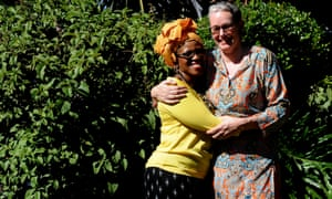 Mpho Tutu and her wife, Prof Marceline van Furth, at their home in Cape Town, South Africa.
