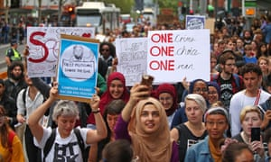 Protests against Islamophobia in Melbourne following the Christchurch attacks.
