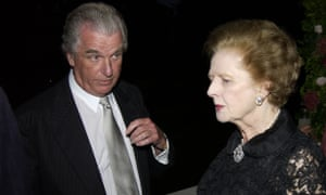 Tim Bell with Margaret Thatcher in 2002. In her memoirs she wrote that Bell had better political antennae than most politicians.