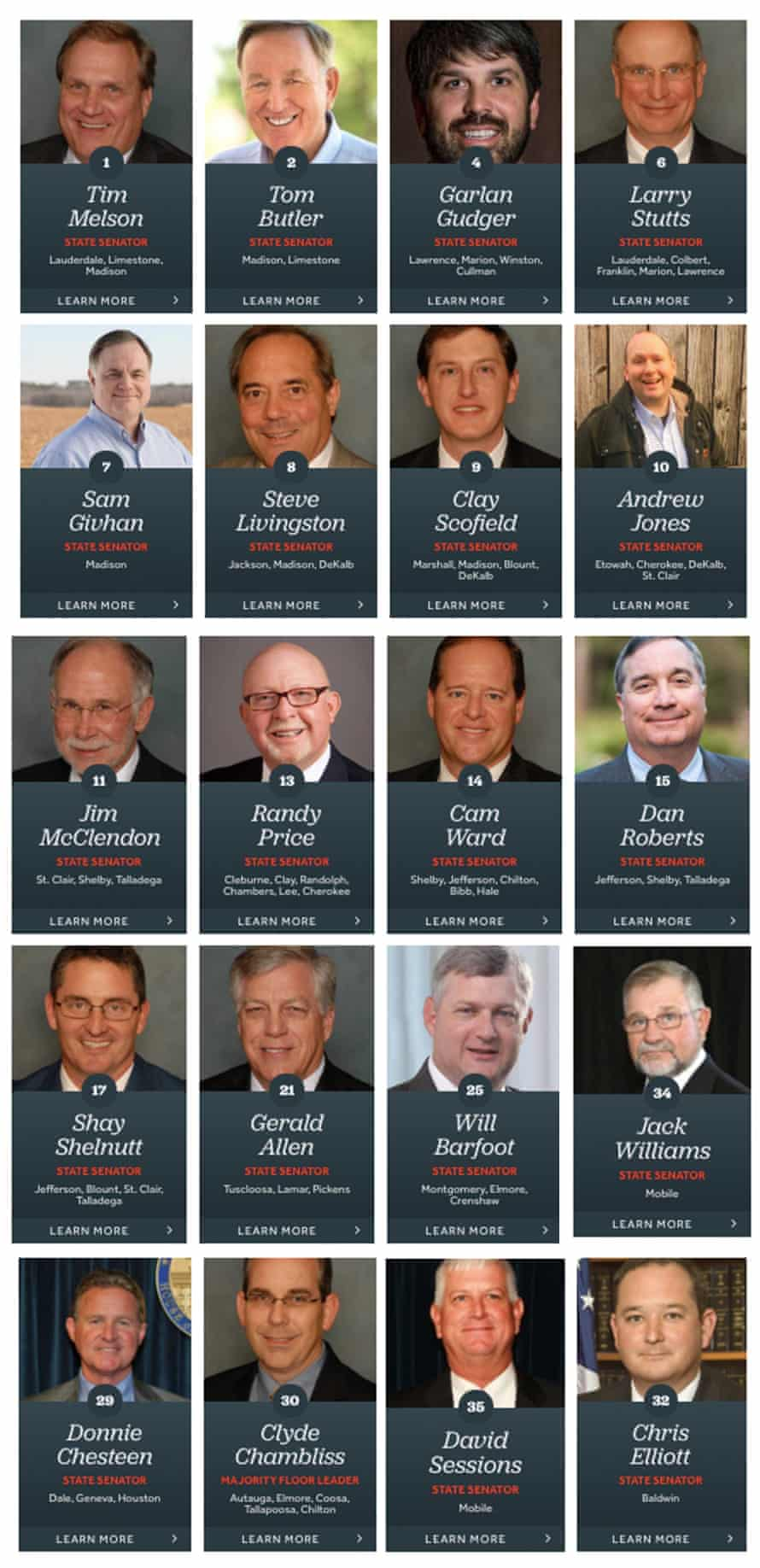 The members of the Republican senate caucus who voted to ban abortion