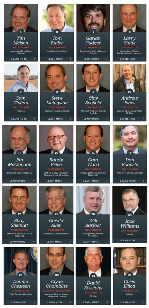 Image result for governors who voted yes on alabama abortion laws the guardian