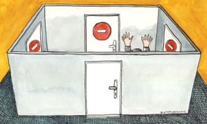 Andrzej Krauze ilustration for Caroline Jones on bulimia/eating disorders