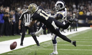 Tommylee Lewis and Nickell Robey-Coleman were at the forefront of a non-call that defined the Saints-Rams game