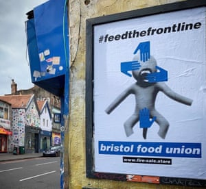 An ad for the Bristol Food Union's #feedthefrontline fundraising campaign.