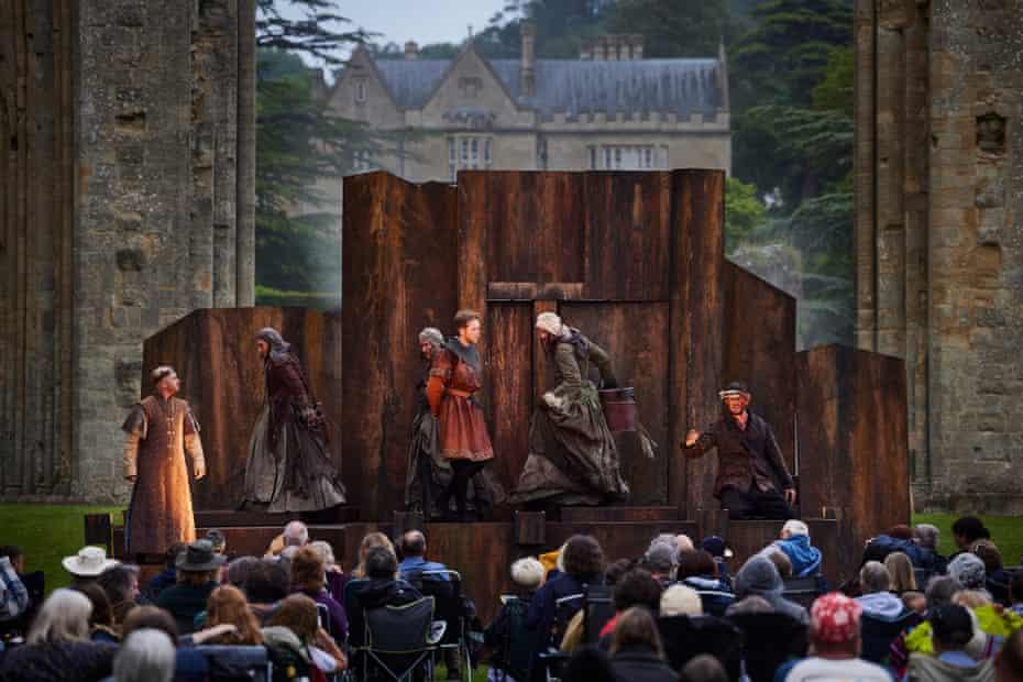 The production at Glastonbury Abbey, Somerset