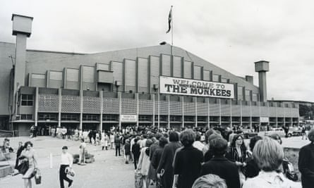 A little bit me, a little bit queue ... Fans line up to see the Monkees at Wembley Arena, 2 July 1967.
