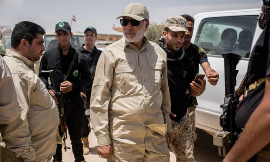 Abu Mahdi al-Muhandis meets with Iraqi force near Ba'aj.