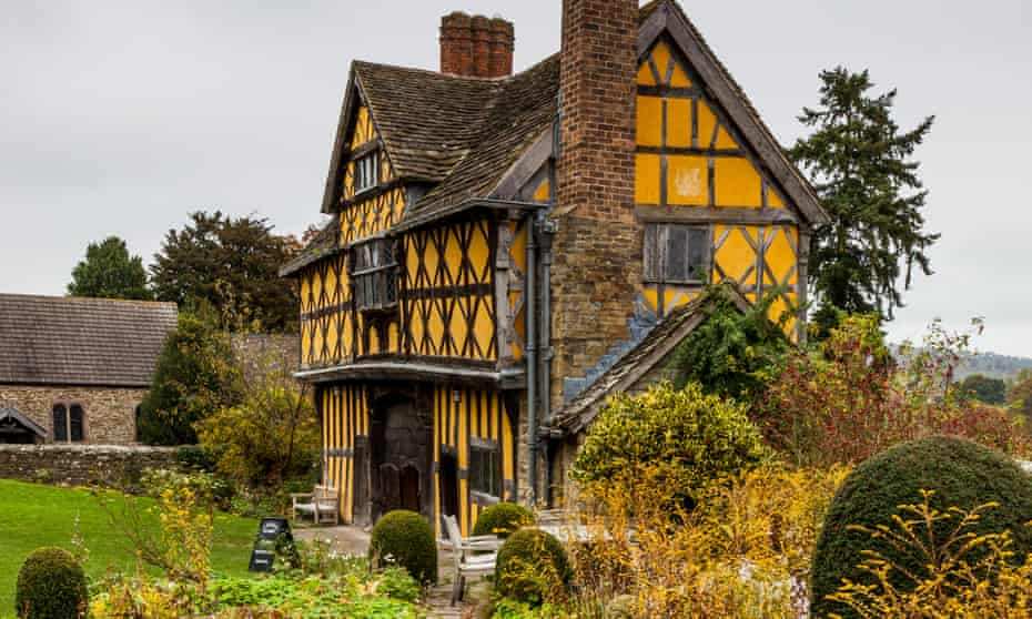 The timber-framed gatehouse at Stokesay Castle, near Craven Arms, Shropshire