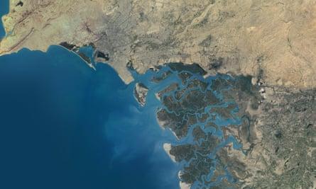 Indus Delta, Pakistan, True Color Satellite Image