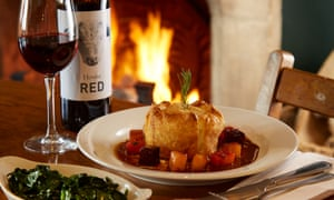 Meal at the Bull Hotel, Fairford, Gloucestershire