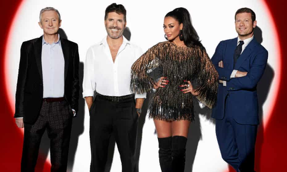 The firing squad ... judges assemble for X Factor: Celebrity.