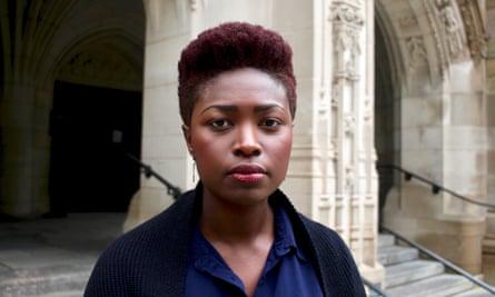 Dianne Lake helped organise a sit-in against Kavanaugh at Yale Law School last week.