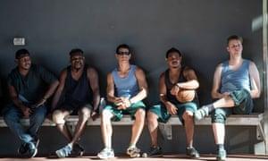 Tom Ballard with Indigenous inmates of West Kimberley regional prison