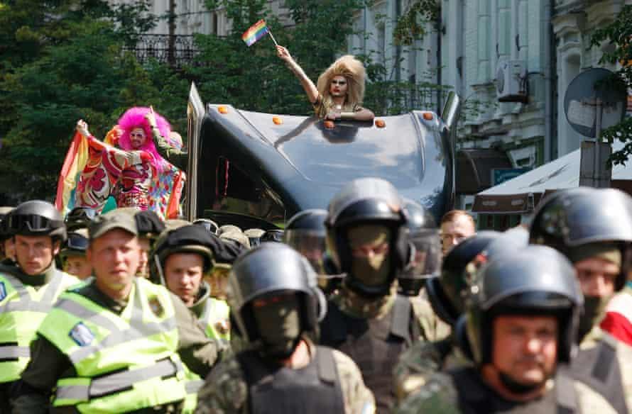Kiev Pride in Ukraine in 2017.