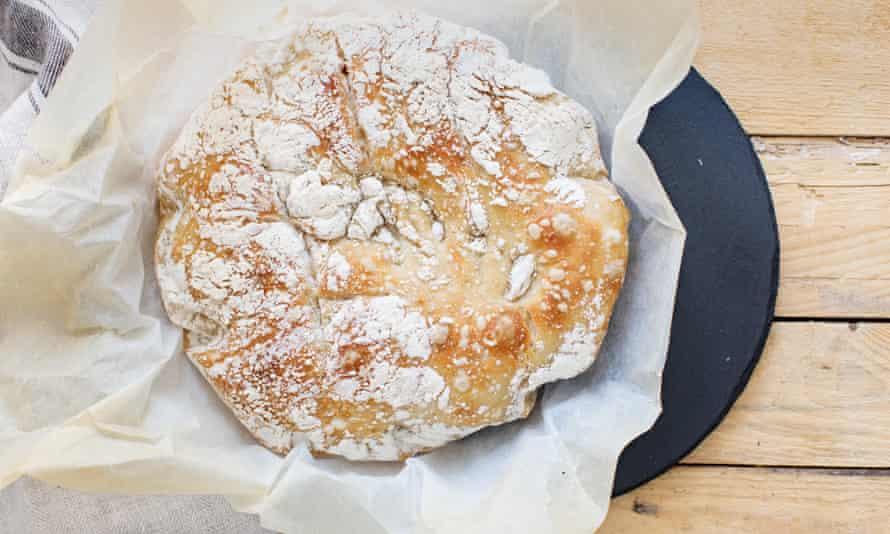 A no-knead crusty loaf.