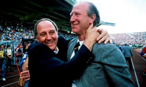 Jack Charlton and his assistant Maurice Setters at Euro 88