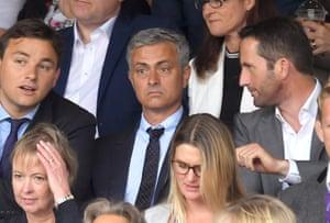 Jose Mourinho attends the men's final