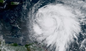 Hurricane Maria had intensified into a category 5 storm as it moved towards the Caribbean island of Dominica.