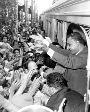 Gamal Abdel Nasser in Alexandria, 1966