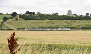 The ruins of Hadleigh castle in the distance.