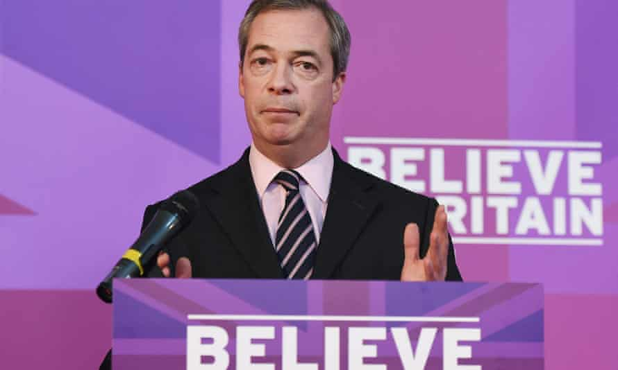 Nigel Farage speaking in Rochester, Kent on 23 February.