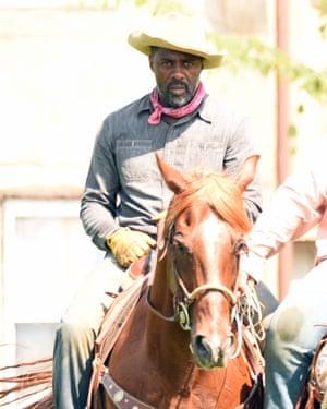 Idris Elba filming Concrete Cowboys in Philadelphia