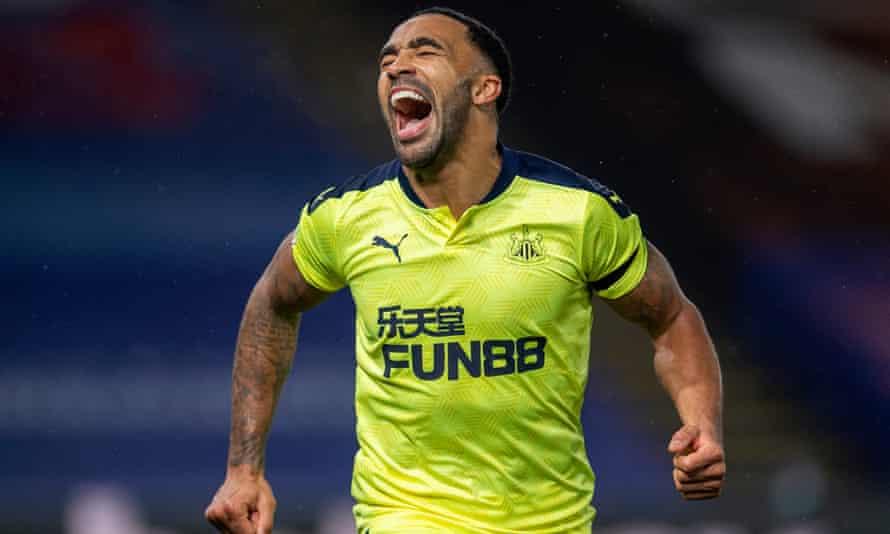 Callum Wilson of Newcastle United celebrates after scoring last month