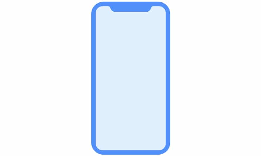 An icon used to display the 'D22' iPhone found in a pre-release firmware from the Apple HomePod speaker, released to developers in July.