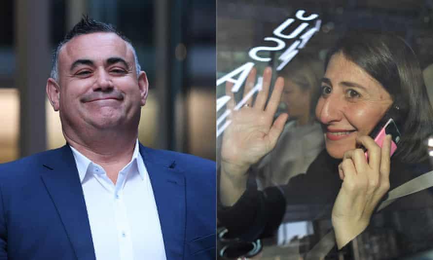 NSW Nationals Party leader and Deputy Premier John Barilaro and NSW Premier Gladys Berejiklian