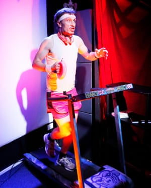 Moving … Monkey See Monkey Do was performed on a treadmill.