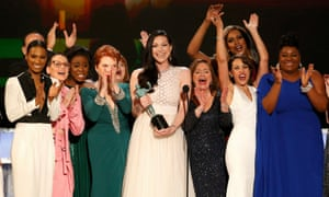 The cast of Orange is the New Black accepting their SAG award