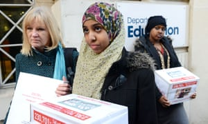 Campaigners against female genital mutilation gather to deliver almost 250,000 signatures