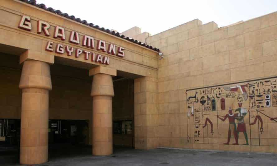 Grauman's Egyptian Theatre on Hollywood Boulevard in LA