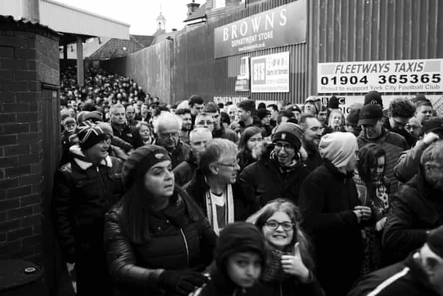 Fans exit the David Longhurst Terrace.