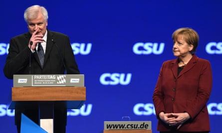 Horst Seehofer and Angela Merkel