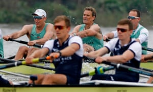 James Cracknell helps his crew to pull clear