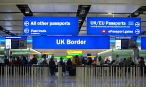 Border control at Heathrow airport.