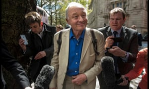 Ken Livingstone leaves TV studios in Westminster after giving an interview following his suspension from the Labour party in April 2016