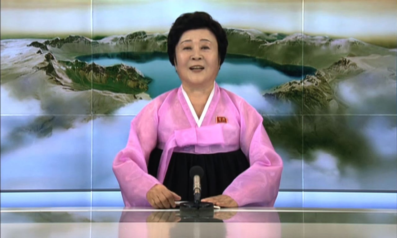 North Koreas Woman In Pink Who Is Kctvs News Anchor World News