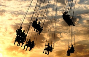 Baghdad, Iraq: Locals play at an amusement park as they celebrate the Eid al-Adha festival