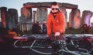 'We did a rehearsal and it went wrong' … the superstar DJ warms up at Stonehenge.