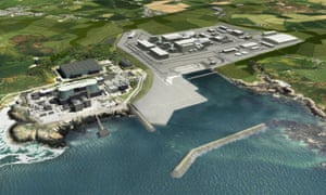 An artist's impression of the Wylfa nuclear plant in Anglesey, which Hitachi has announced it is pulling out of building