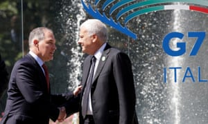 EPA chief Scott Pruitt with Italy's minister of the environment Gian Luca Galletti at a G7 summit in Bologna.