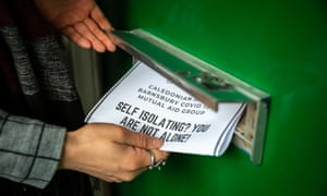 Mutual aid group fliers being posted in London in March.