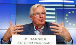 EU chief Brexit negotiator Michel Barnier met EU leaders in Luxembourg today.