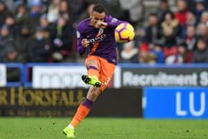 Danilo shoots wide.