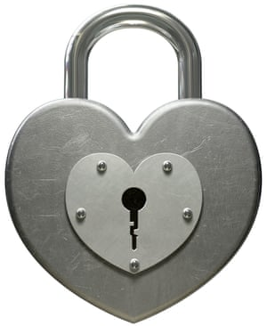 A special padlock for lovers.